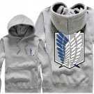 Hot sell Anime Attack on Titan Investigation Corps unisex long Sleeve gray Cosplay Costume Hoodie