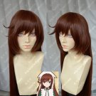 Rose girl Suiseiseki 120cm small a long hair warm brown cos wig