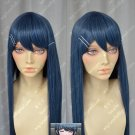 The round dance Sayaka SDR 100cm Blue white green clip cos wig