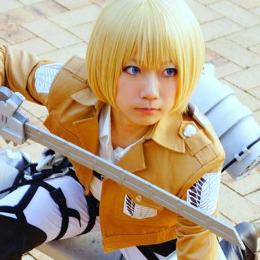 Attack on Titan Armin Arlart golden short BOBO Cosplay wig costume
