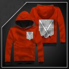 Hot sell Anime Attack on Titan training corps red unisex long Sleeve Cosplay Costume Hoodie