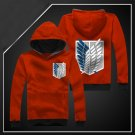 Hot sell Anime Attack on Titan Investigation Corps red unisex long Sleeve Cosplay Costume Hoodie