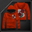 Hot sell Anime Attack on Titan stationed corps red unisex long Sleeve Cosplay Costume Hoodie