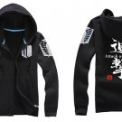 Investigation Corps Attack on Titan Anime Unisex black Attack Cosplay Costume Zip Hoodie