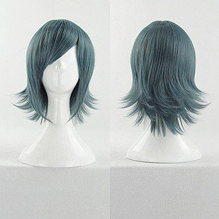 AKB0048 Sae Miyazawa Short Blue Mix Cosplay Anime Costume Wig