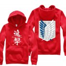 Anime Hot sell Attack on Titan Investigation Corps unisex long Sleeve red Cosplay Costume Hoodie