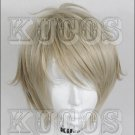 Haikyuu!! sugawara koushi golden grey short Cosplay wig + free shipping+ Free Wig Cap