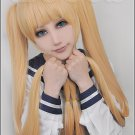 In the two diseases should also fall in love Dekomori Sanae golden mix 120cm Cos wig+Free Wig Cap