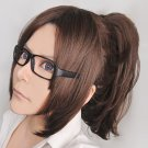 Attack on Titan/Shingeki no Kyojin Hanji Zoe Dark Brown Cosplay Wig