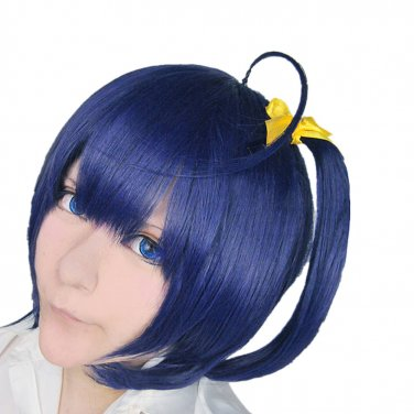 New!In the two diseases should also fall in love Takanashi Rikka blue purple Cos wig+Free Wig Cap