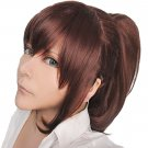 Attack on Titan Sasha Blaus Brown Red Cosplay Ponytail Wig+free Shipping+free Wig Cap