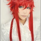 Kamigami no Itazura Loki Laevatein red 100cm Cosplay wig+free shipping+Free Wig Cap