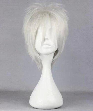 Nabari no Ou Aizawa Kouichi silver grey Cosplay wig+free shipping
