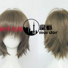 Hotarubi no mori e Takegawa Hotaru brown mix Cosplay wig+free shipping