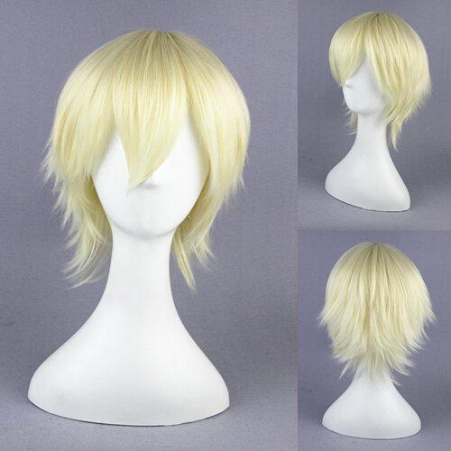 Vampire Knight Ichijou Takuma light golden Cosplay wig+free shipping