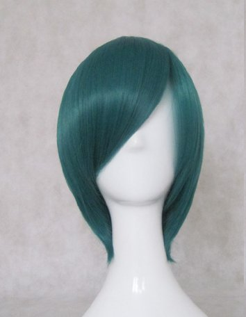The Prince of Tennis Echizen Ryoma dark green Cosplay wig+free shipping