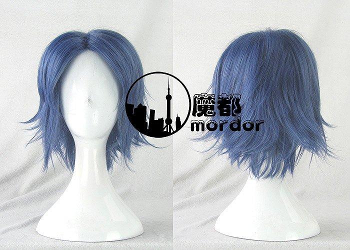 The Prince of Tennis Seiichi Yukimura blue black grey Cosplay wig+free shipping