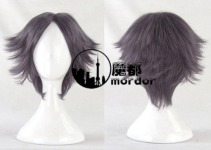 The Prince of Tennis Atobe Keigo purple grey Cosplay wig+free shipping