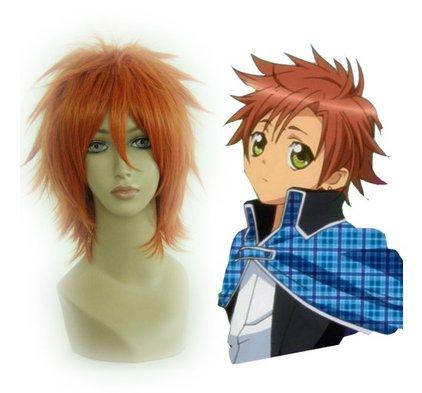 Shugo Chara Souma Kukai orange Cosplay wig+free shipping+Free Wig Cap