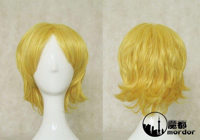 Pandora Hearts Oz vessalius golden short Cosplay wig+free shipping+Free Wig Cap