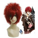 Hitman Reborn Kozato Enma red brown Cosplay wig+free shipping+Free Wig Cap
