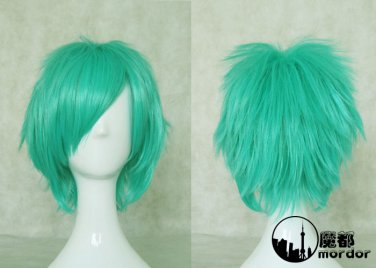 Hitman Reborn Fran green Cosplay wig+free shipping+Free Wig Cap