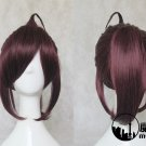 Inu x Boku Secret Service Sori no dzuka ren shou purple brown ponytail Cosplay wig+free shipping+Cap