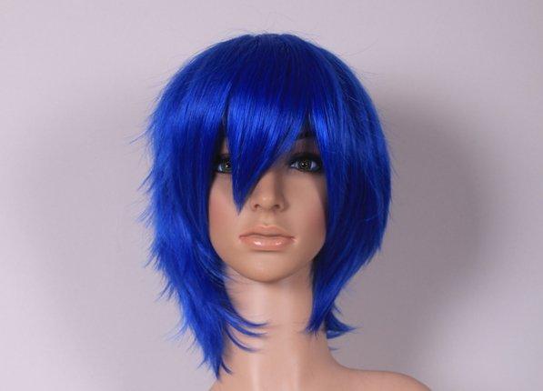 Mawaru-Penguindrum Takakura Shyouma boku blue Cosplay wig+free shipping+Free Wig Cap