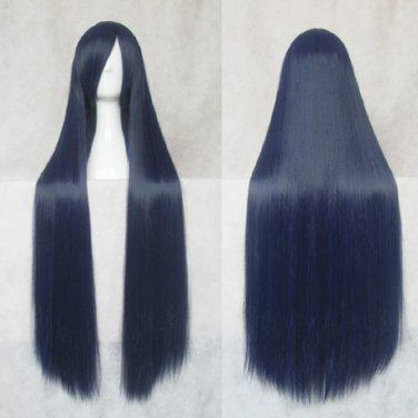 Naruto Hyuga Hinata blue black 100cm Cosplay wig+free shipping+Free Wig Cap