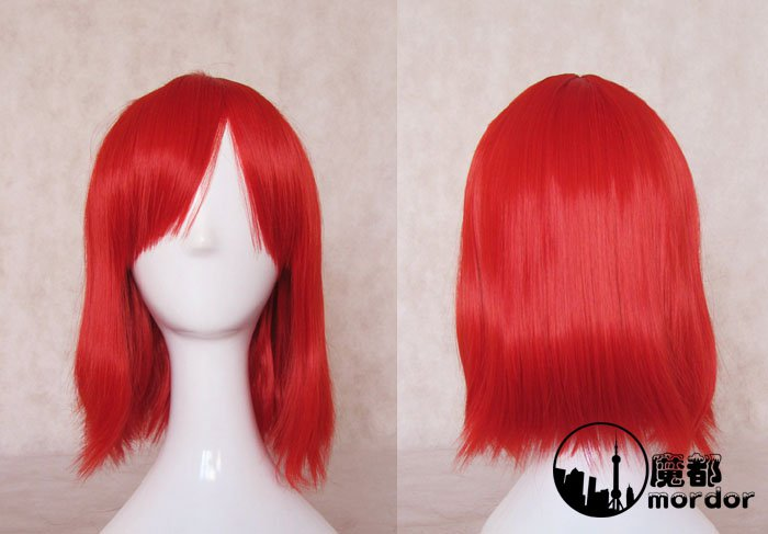 Black Butler Angelina Dalles red 45cm Cosplay wig+free shipping+Free Wig Cap