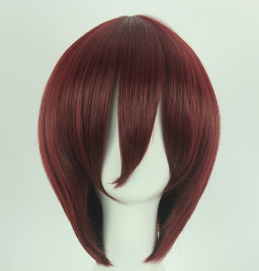 One Piece Shanks brown red Cosplay wig+free shipping+Free Wig Cap