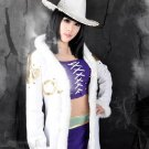 One Piece Nico Robin brown black mix 60cm Cosplay wig+free shipping+Free Wig Cap