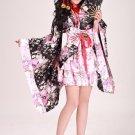 Beautiful Halloween Lolita Maid Woman Cosplay Flower Costume Japanese kimono Dress