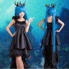 Vocaloid Hatsune Miku Deep-Sea Girl  long black anime cosplay costume skirt dress