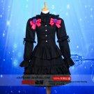 DATE A LIVE Tokisaki Kurumi black cosplay anime costume Gothic Lolita Dating costume