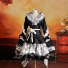 Halloween Lolita Maid Woman black and white Cosplay dress