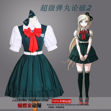 Super Danganronpa 2 Sonia Nevaman anime cosplay costume dress skirt stockings