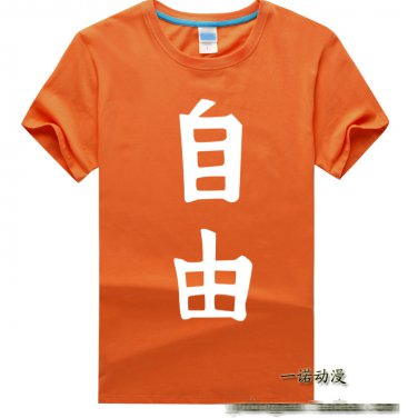 Anohana The Flower We Saw That Day Yadomi Jinta short sleeve cotton cosplay T-shirt clothes orange