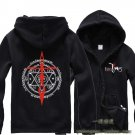 Fate zero saber cosplay Casual costume Sweater Hoodie fleeces Hoody unisex Zipper Hooded black