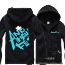 Anohana The Flower We Saw That Day Yadomi Jinta unisex Zipper Hooded cosplay Casual costume black