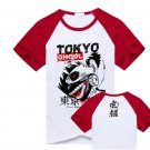 New Tokyo Ghoul Kaneki Ken anime cosplay Halloween short sleeve T-shirt red A