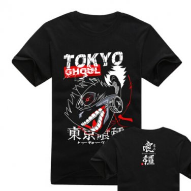 New Tokyo Ghoul Kaneki Ken anime cosplay Halloween short sleeve T-shirt black