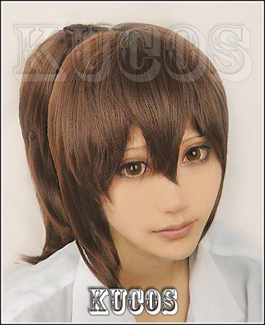 Spirited Away Ogino Chihiro brown Cosplay ponytail wig+free shipping+Free Wig Cap