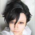 Haikyuu!! Kuroo Tetsurou black short Cosplay wig + free shipping+ Free Wig Cap