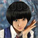 Gugure! Kokkuri-san Kohina Ichimatsu black short Cosplay wig + free shipping+ Free Wig Cap