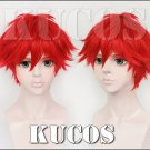 Monthly Girls' Nozaki-kun Mikoto Mikoshiba red Cosplay wig + free shipping+ Free Wig Cap
