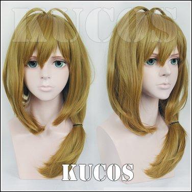 Monthly Girls' Nozaki-kun Yuzuki Seo brown Cosplay wig + free shipping+ Free Wig Cap