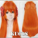 Monthly Girls' Nozaki-kun Chiyo Sakura orange Cosplay wig + free shipping+ Free Wig Cap