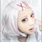 Tokyo Ghoul Suzuya Juzo + hairpin silver white Cosplay wig + free shipping+ Free Wig Cap