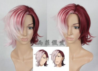 Witch craft works Kagari Kazane red mix Cosplay wig + free shipping+ Free Wig Cap